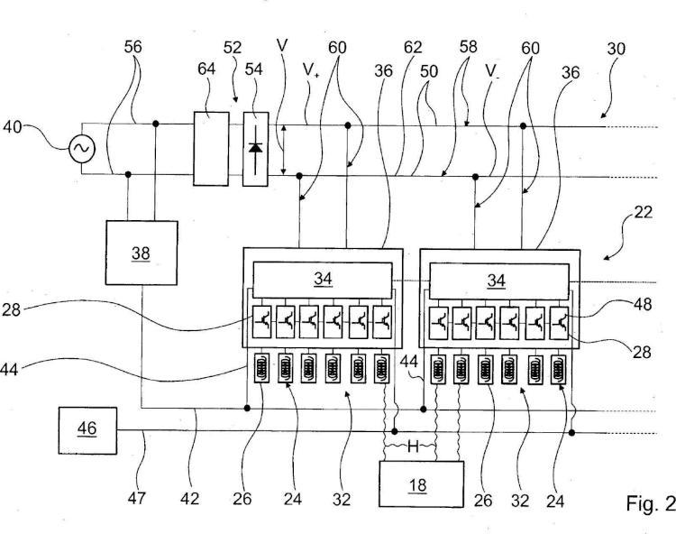 Circuito de dispositivo de calefacción.