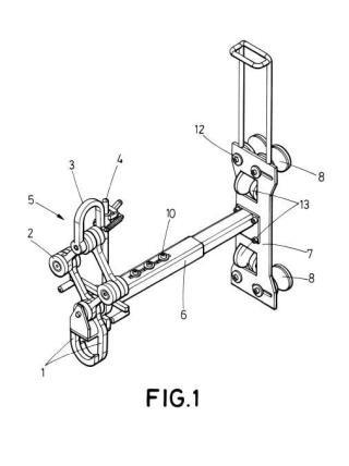 Dispositivo para elevación de bombas sumergibles.
