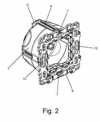 Conjunto de caja y bastidor para la instalación de elementos eléctricos o similares en paramentos huecos como los de placas laminadas o similares.