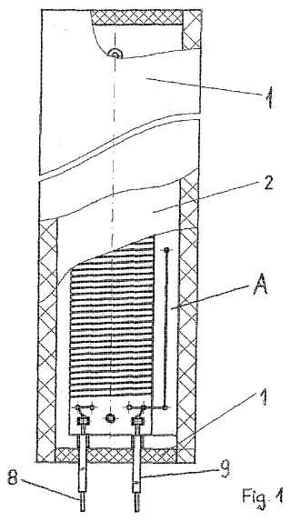 Montaje de calentamiento con resistencia eléctrica.