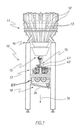 Dispositivo para la impulsión de un elemento laminar para una máquina de envasado.