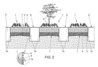 Sistema de gestión del agua de lluvia y riego en un terreno.