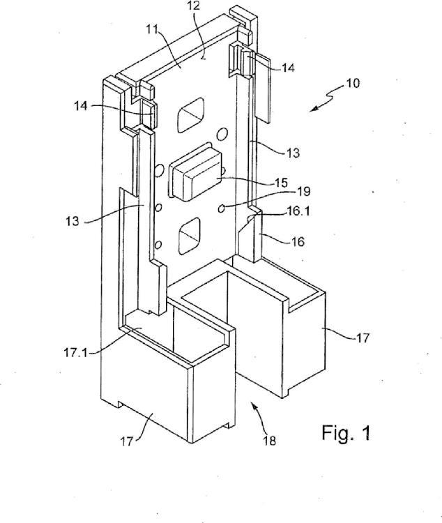 Dispositivo de calentamiento para ser montado en un armario de conexiones.