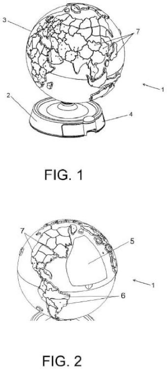 Juego interactivo y globo terraqueo utilizable para la puesta en práctica del mismo.