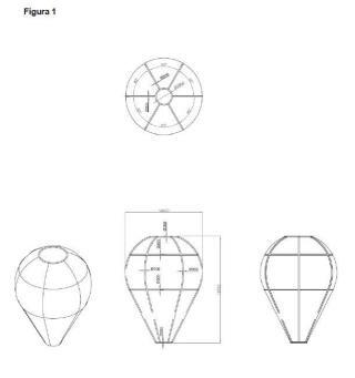 Estructura neumática de rigidización de la lona de un globo aerostático y aerostatos en general y operación de presurizado de dicha estructura.