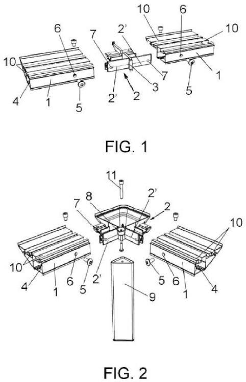 Sistema de construcción modular de mobiliario.