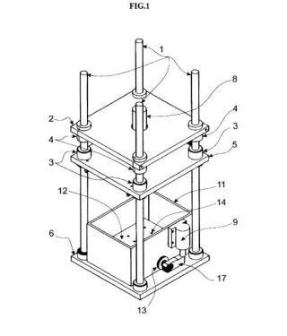 Máquina de ensayo de componentes mecánicos o biomecánicos.