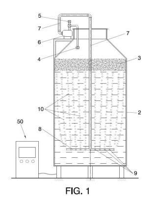 Proceso de fermentación de mosto, y cuba de fermentación, mejorado.