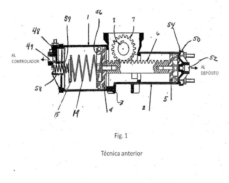 Eje de salida, palanca de balanceo y conjunto de piñones de engranaje para un motor diferencial neumático.