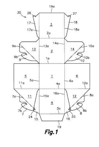 Cuerpo hueco plegable autoexpansible para expositor y conjunto estructural hueco plegable autoexpansible para expositor.