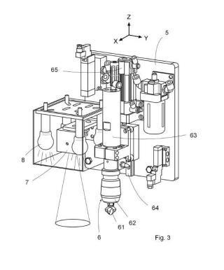 Máquina y procedimiento para el avellanado de orificios existentes en una placa.