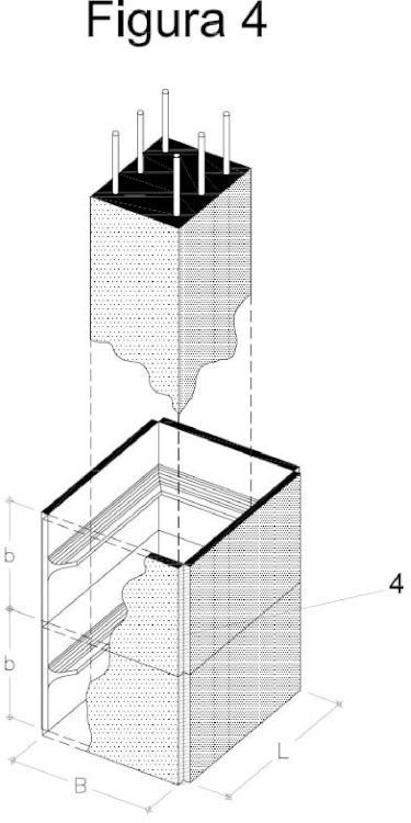 Sistema para el confinamiento transversal de pilares de hormigón mediante collarín metálico.