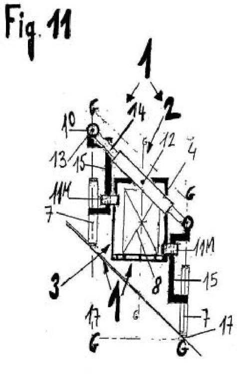 Sistema estructural de chasis accionado por la gravedad que impide la inclinación del vehículo.