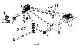 Procedimiento de asignación individualizada de fotocopias e impresiones contenedoras de publicidad.