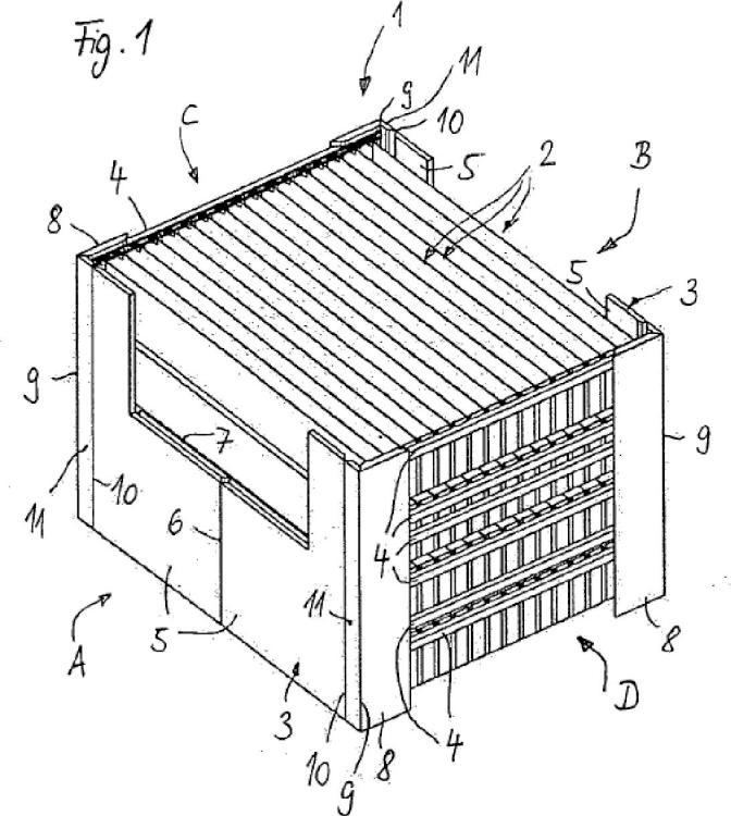 Anillo de aplicación para una caja de palés y caja de palés.