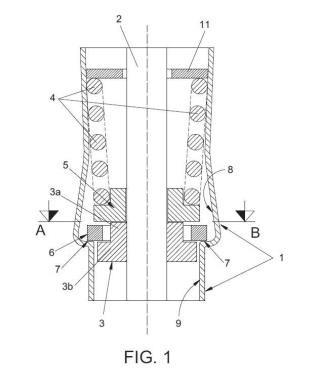 Sistema de control de carga variable en un dispositivo hidráulico.