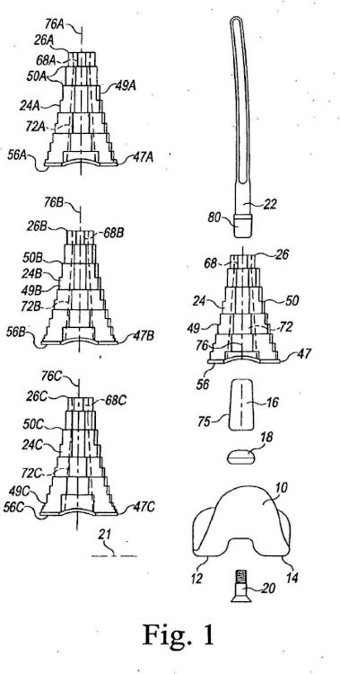Sistema de prótesis de rodilla modular.