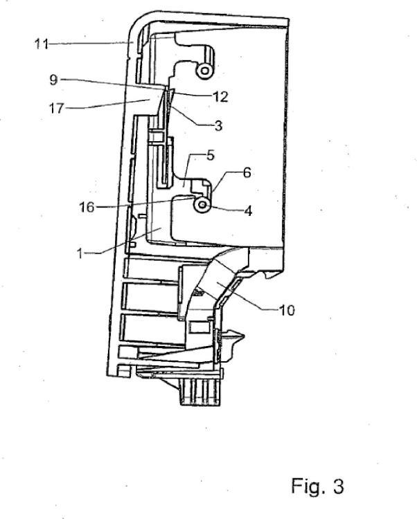 Soporte de aparatos para canales de conducción de líneas con parte superior giratoria.