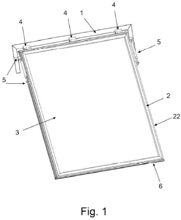 Sistema de cierre y apertura para ventiladores axiales.