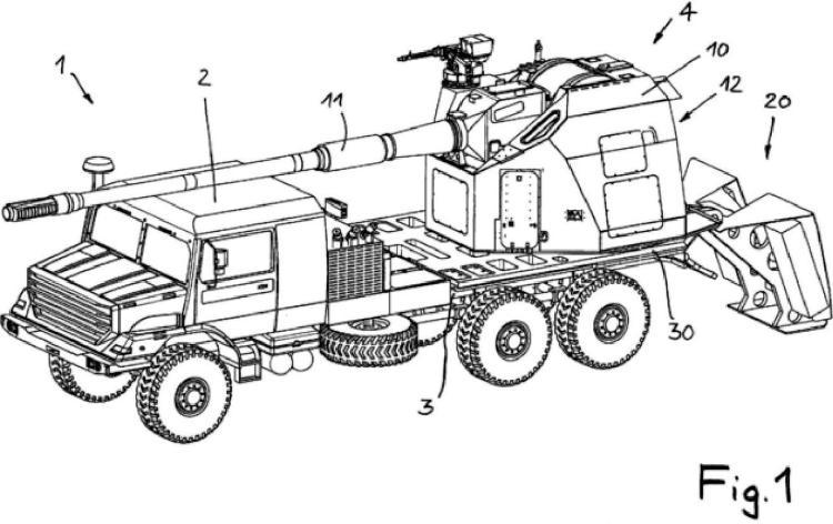 Pieza de artillería y vehículo militar.