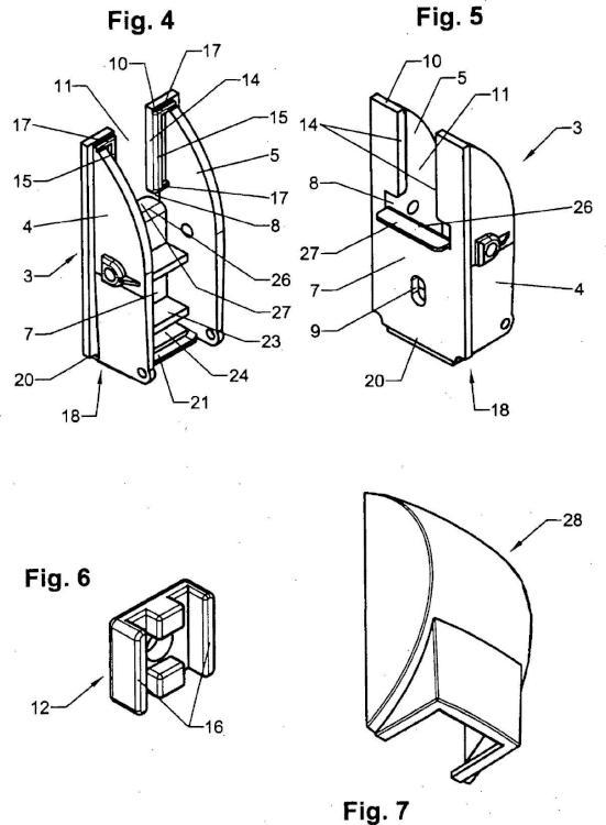 Guía de cinta para una banda de cinta o elemento de tracción similar de un dispositivo de oscurecimiento, en particular de una persiana enrollable, para la fijación en cajas de persiana enrollable.