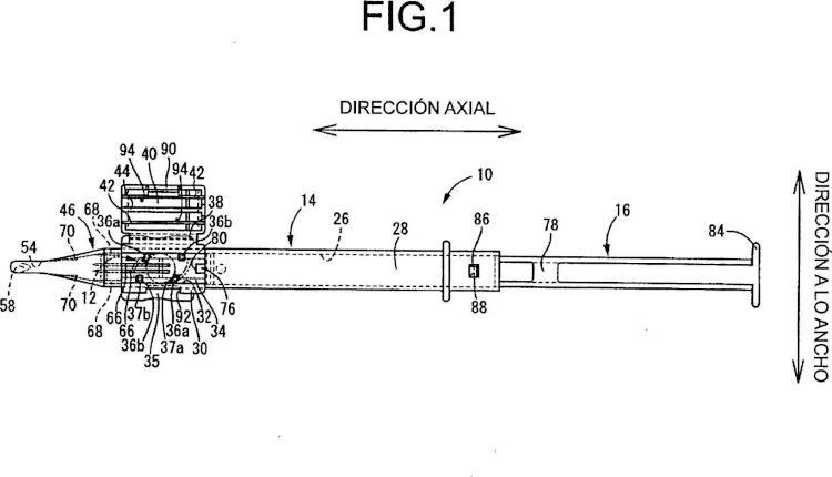 Dispositivo de inserción de lentes intraoculares.