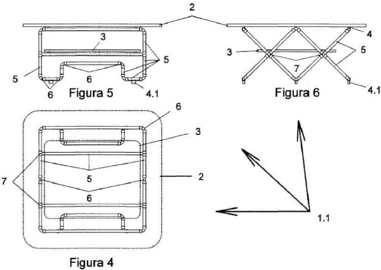 Ilustración 2 de la Galería de ilustraciones de Mesa con soporte tubular sencillo o doble