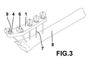 Fijador externo multidireccional para extremo discal de radio.