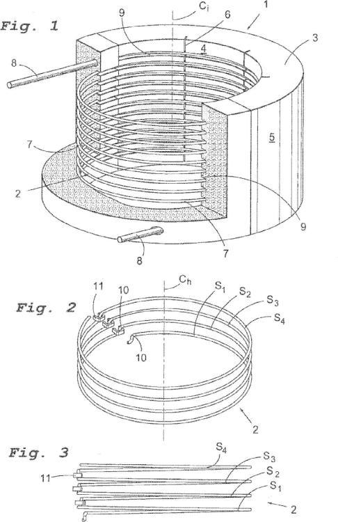 Elemento calentador así como un inserto para hornos eléctricos.