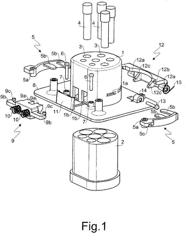 Conexión de corriente industrial de tipo hembra, con dispositivo de protección de los contactos bajo tensión.
