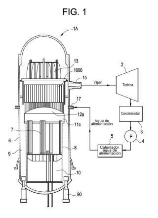 Separador de vapor y reactor nuclear de agua en ebullición que incluye el mismo.