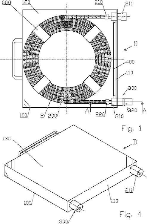Dispositivo de almacenamiento y distribución de pequeñas piezas tales como remaches.