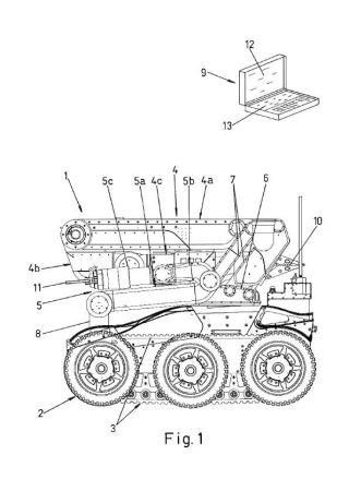 Vehículo robotizado telecomandado.