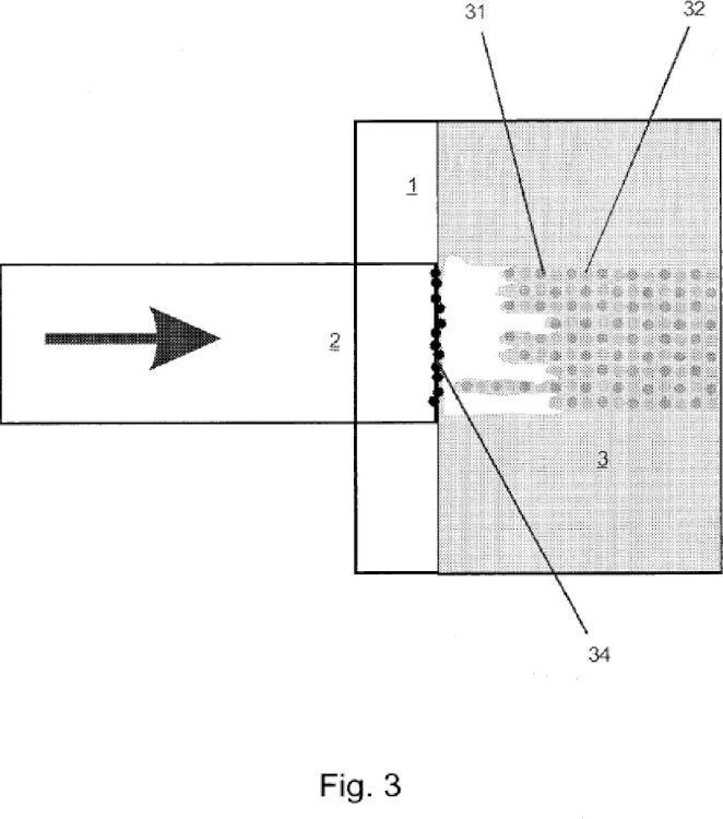 Procedimiento para aplicar una marca de proceso duradera sobre un producto, en especial sobre vidrio.