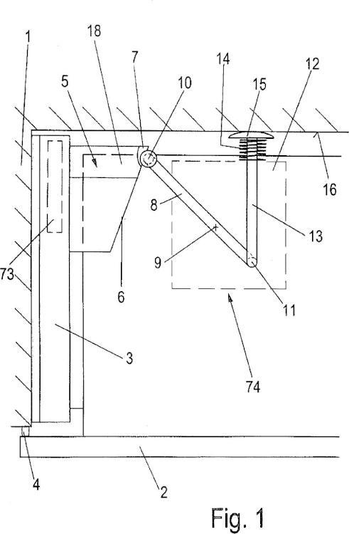 Dispositivo de eyección para piezas de muebles móviles.