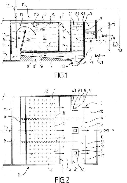 Dispositivo de flotación rápida de aguas cargadas con materias en suspensión, y procedimiento de realización.