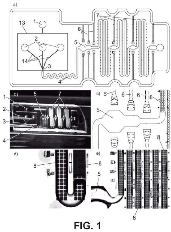 Sistema optofluídico para reacciones biocatalíticas con cristales de enzimas entrecruzados.