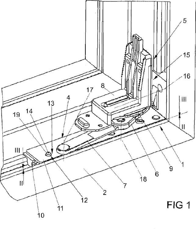 Cojinete angular previsto para la disposición oculta.