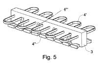 Dispositivo para la conexión de placas de hormigón armado a una construcción de pared o una construcción de techo realizadas a base de hormigón armado.