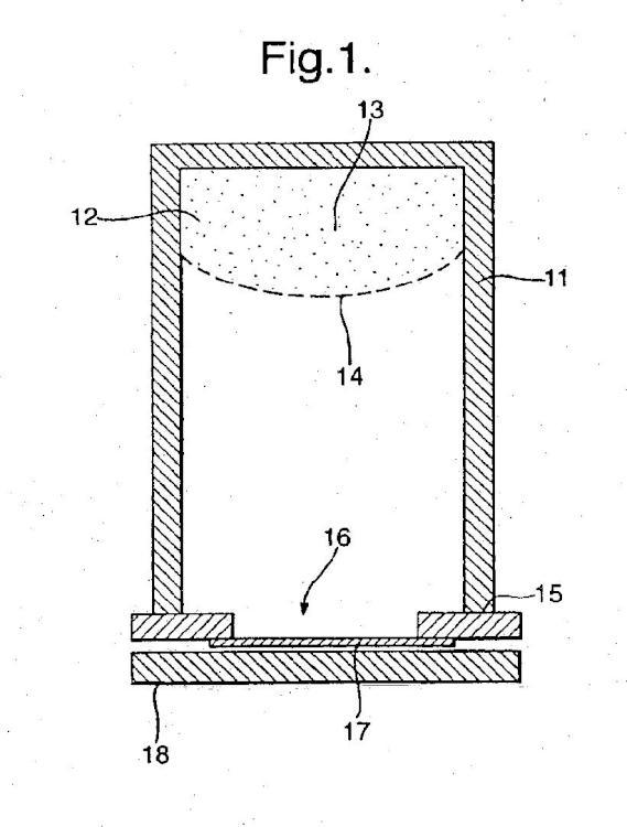 Procedimiento para proporcionar una cantidad de un material en partículas, producto y aparato.