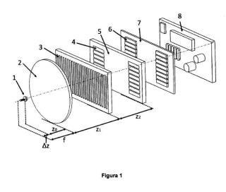 Dispositivo opto-electrónico y métodos para colimar y determinar el grado de colimación de un haz de luz.