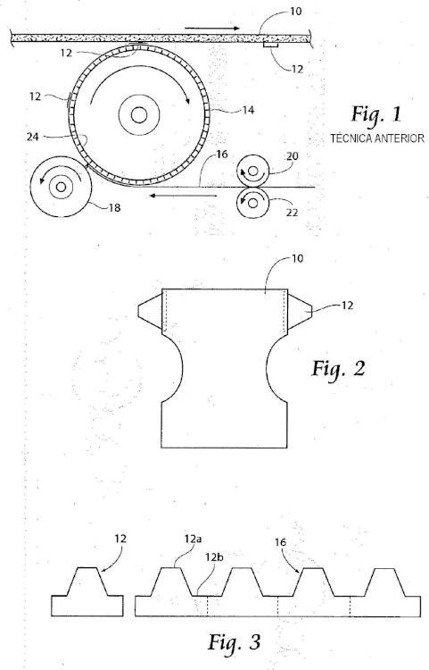 Métodos y aparato para la aplicación de una orejeta anidada de residuo cero a una banda en desplazamiento.