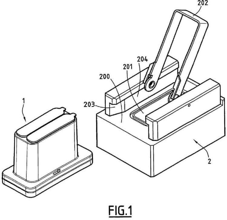 Procedimiento y dispositivo para separar por filtración vertical partículas biológicas contenidas en un líquido.