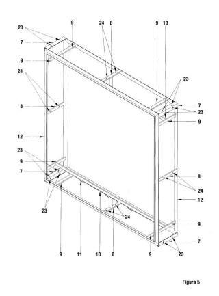 Sistema modular para delimitación, decoración e iluminación de espacios y volúmenes.
