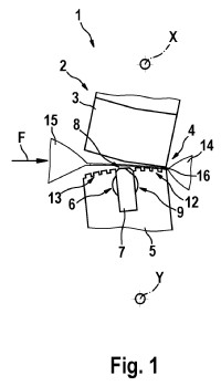 Dispositivo y procedimiento para la soldadura y separación de materiales de envase para un envase.