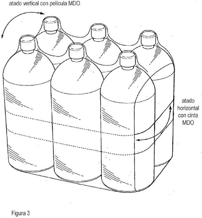Un proceso para envolver mediante agrupación por retracción una pluralidad de contenedores individuales.