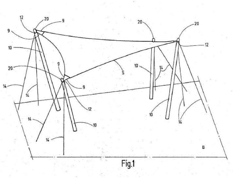 Dispositivo de prensión de carga destinado a transmitir fuerzas de carga, como fuerzas de cables o fuerzas de sujeción, de estructuras planas.