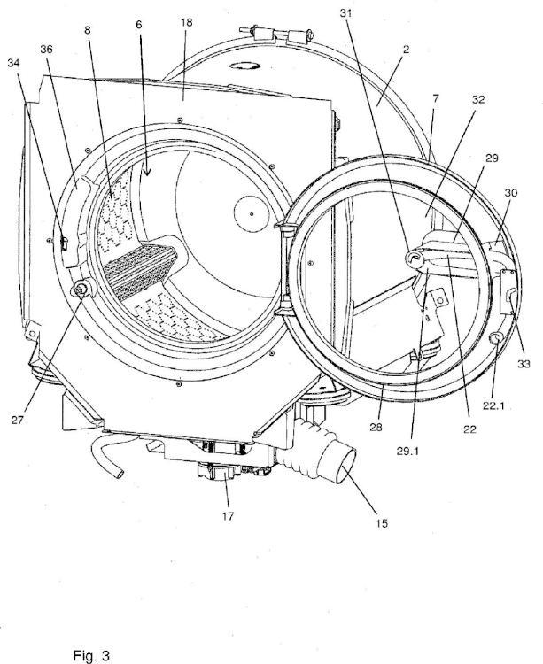 Máquina lavadora con una cubeta para la colada y con un equipo de circulación.