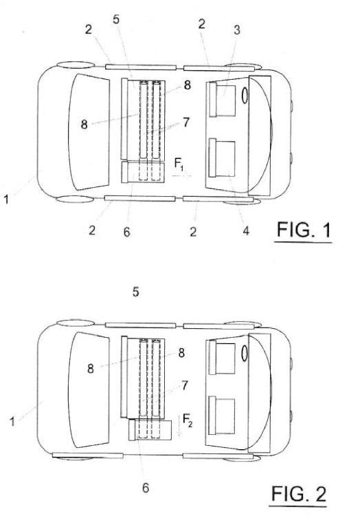Asiento extensible / extraíble para vehículos automóviles.