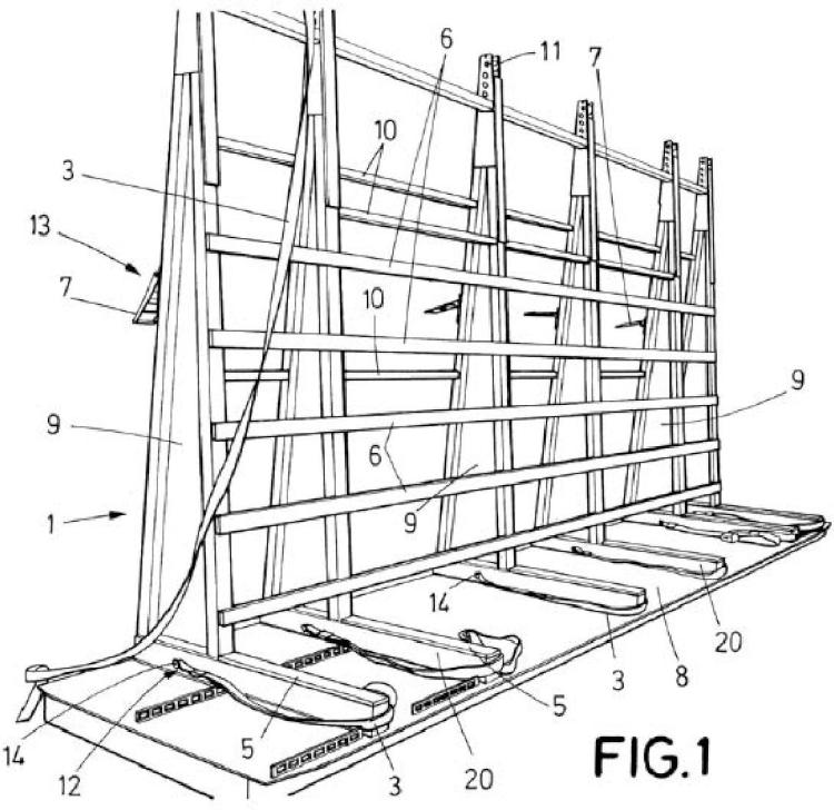 Sistema de embalaje y transporte de láminas de vidrio.